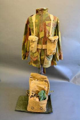 37 Pattern Small Pack, contained within the 37 Pattern Large Pack from the Airborne Assault Museum Collection, Duxford.
