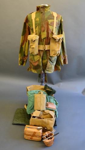 The contents of the 37 Pattern Small Pack from the Airborne Assault Museum Collection, Duxford.
