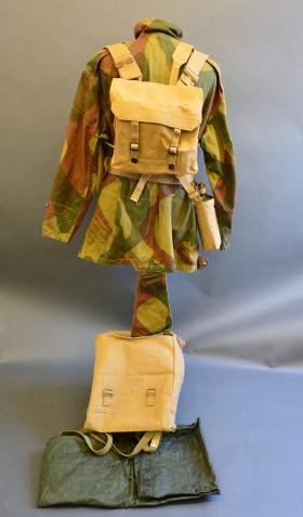 37 Pattern Sleeve Water Bottle Holder with Bottle along with Small Pack attached from the Airborne Assault Museum, Duxford.