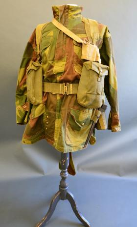 Blanco dyed 37 Pattern Webbing complete set from the Airborne Assault Museum Collection, Duxford.