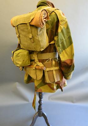 A rear view of a full set of 37 Pattern Webbing from the Airborne Assault Museum Collection, Duxford.