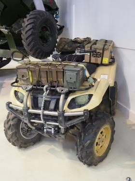 Enhancing the Quad bike for display, Airborne Assault, Duxford, March 2015.
