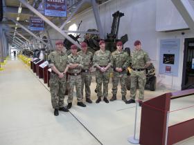 The Parachute Regiment Recruiting Team visit Airborne Assault Duxford, March 2015.