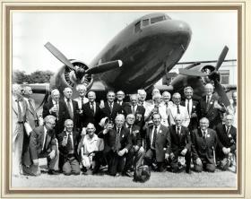 Airborne veterans, thought to be veterans of Market Garden, Aldershot, date unknown.