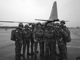 Members of A Troop, 216 Signals Squadron ready to emplane before deployment of Airborne Task Force (ABTF), Oct 2005