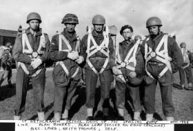 Lt Harper, right, at Netheravon, 1944.