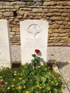 Grave of Sergeant J A Iliffe. Traorn Communal Cemetery.