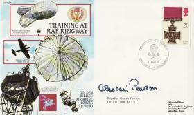 Airborne Forces Ringway Commemorative Cover signed by Alistair Pearson