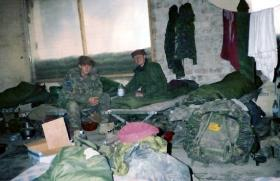 Pte 'Ross' Phillipson and Pte Lee Barrow, Afghanistan, 2002.