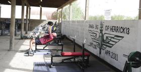 Pumping Iron, 3 PARA Battle Group Gym, FOB Shezad, Afghanistan, 2011