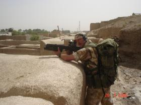 LCpl Muller on patrol in Gereshk 2006