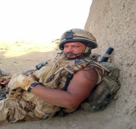 Sgt 'Daz' Liney, Afghanistan 2008.