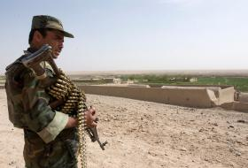 Afghan National Army soldier operating with 3 PARA, Kandahar, Afghanistan, 2008