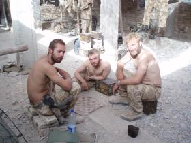 Members of 51 Para Sqn RE, Sangin DC, 2006.