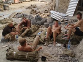 Members of 51 Para Sqn RE & 9 Para Sqn RE chilling out, Sangin DC, 2006