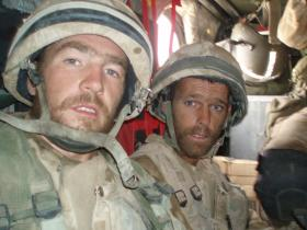 L/Cpl Brook and L/Cpl Carr leaving Sangin, 2006