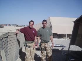 L/Cpl Brook and Cpl McGrane, Camp Bastion, 2006