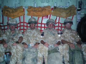 Members of 51 Para Sqn RE leaving Afghanistan at the end of Op Herrick IV 2006