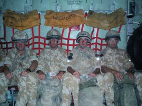 Members of 51 Para Sqn RE leaving Afghanistan at the end of Op Herrick IV 2006