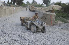 3 PARA Quad Bike, FOB Shezad, Afghanistan, 2011