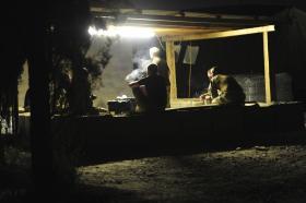 Smokers Corner!  FOB Shezad, Afghanistan, 2011