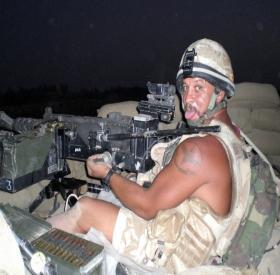 Sgt Liney mans a 'Gimpy', Herrick VIII, 2008.