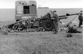 Ordnance Quick Firing 17 Pounder during air drop trials, July 1959.