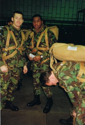 Lance Corporals Doug Ware and Adron Goddard, 144 AMS, Lyneham circa 1990