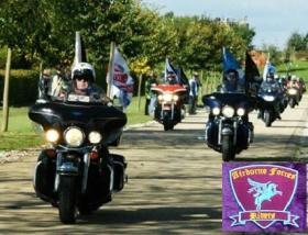 Airborne Forces Riders arriving at the National Memorial Arboretum 2012.