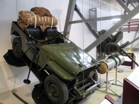 Airborne Jeep displayed at Airborne Assault, Duxford