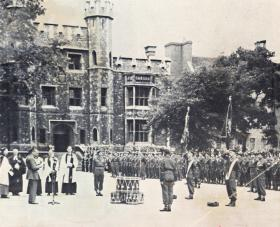 Field Marshal Alanbrooke addresses 10 PARA, Tower of London 1952.