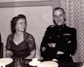 RSM J Alcock with his wife 'Peggy', date unknown.