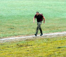 Mark Ross, last 400 metres of tab, Paras 10, Aldershot March 2013.