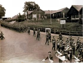 2nd Battalion, 16th Independent Parachute Brigade, arrive at Aldershot from Germany, 1949.