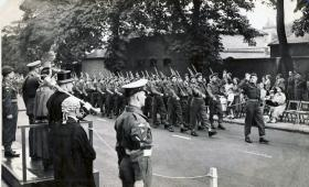 A Company 2nd Parachute Battalion arrive at Aldershot from Germany, 1949