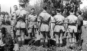 The funeral of Private 'Jock' McBride, Ramleh War Cemetery, May 1946.
