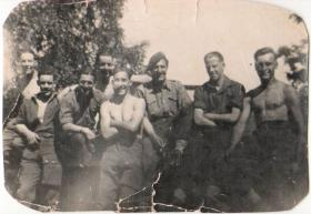 Alfred Cannon with fellow servicemen