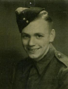 Leslie Allsopp as a young soldier, c.1942