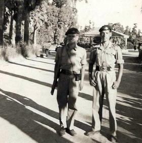 Unknown soldier and Gdsm Anderson, Nicosia, Cyprus, 1956.