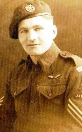 Sergeant Brown, taken before Operation Market Garden, 1944.
