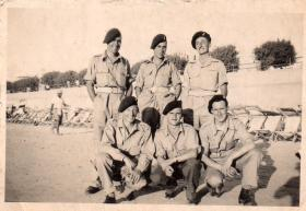 Members of a Royal Artillery unit of 6th Airborne Division, Palestine
