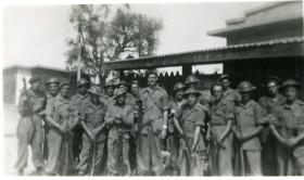 Another view of the boarding party sent to the HMIS Hindustan from A Coy, 15th (Kings) Battalion, India, February 1946
