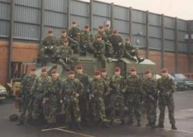 Anti Tank Platoon, Support Company,2 PARA, Woodbourne RUC Station West Belfast, 1993.