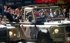 'Bill' Mackay, ex 5th (Scottish) Parachute Battalion, Anzac Day, Sydney, 2012.