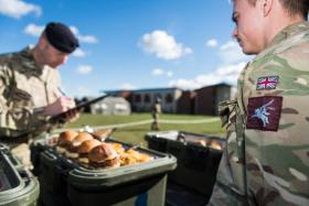 Airborne chefs feel the heat of competition, March 2017.