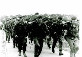 1 Platoon, A Coy, 1 PARA, Hythe & Lydd March and Shoot, 1979.