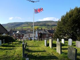 The final resting place of Major John Timothy MC,  Timberscombe, 2012.