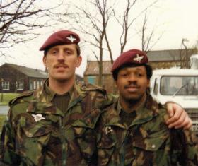 A Coy 4 PARA's 'one and only' Cpls Frank Boyle and Tommy Barney, 1980s