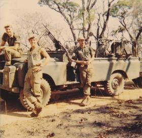 Members of C Squadron Rhodesian SAS in the field