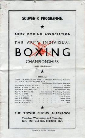 Army Boxing Championships, March 1943.